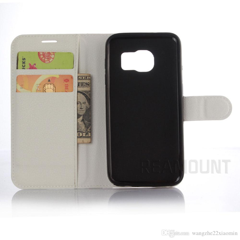 PU Leather Wallet Case for Samsung Galaxy S3 S4 S5 S6 Slot Card Wallet Style Stand Holder Colorful Cover Case