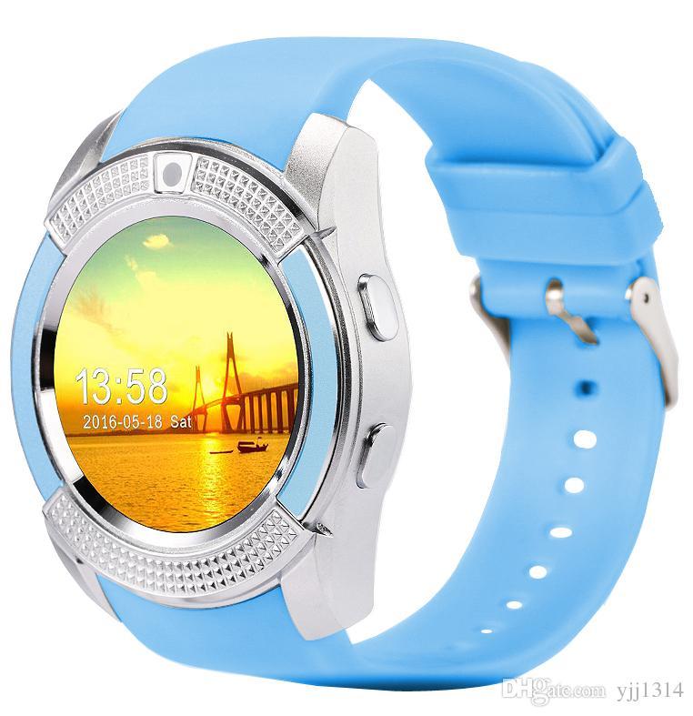 V8 smart watch preços por atacado relógios bluetooth android com 0.3 m câmera smartwatch para android phone com pacote de varejo livre dhl