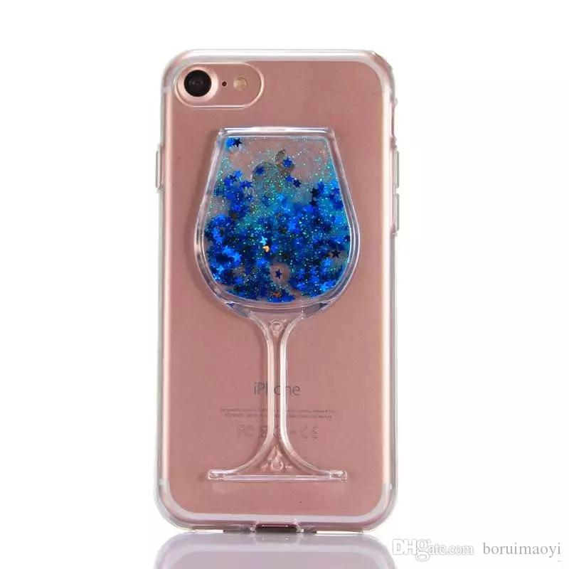 Liquid 3D Red Wine Glass Cocktail TPU Phone Case Cover For iPhone 5 6s 7 7Plus