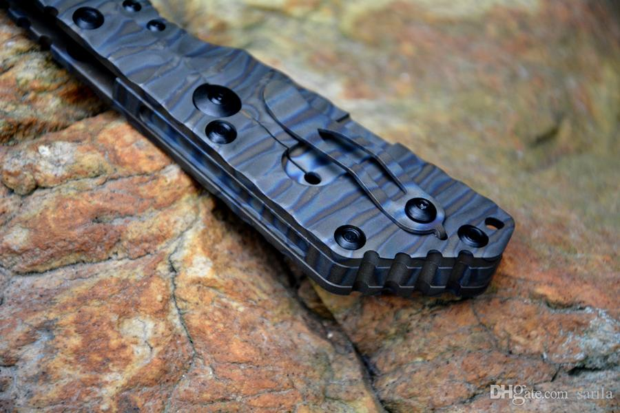 Strider SMF Тактический складной нож Y-пункт D2 Высокоскоростная сталь Черный Камень Пламя TC4 Пламя текстура Открытый Нож выживания
