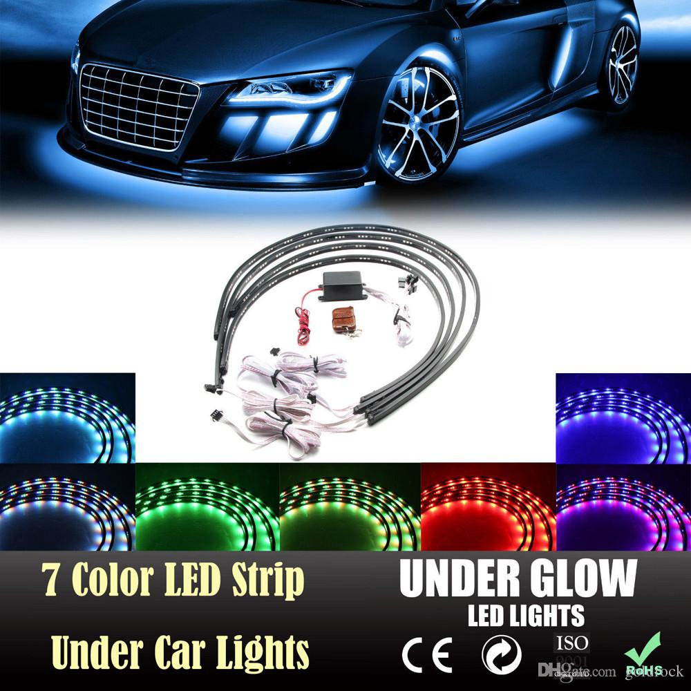 2018 Led Strip Under Car Tube Under Glow Under Body System Neon Lights Kit From Goldrock $42.87 | Dhgate.Com  sc 1 st  DHgate.com & 2018 Led Strip Under Car Tube Under Glow Under Body System Neon ...
