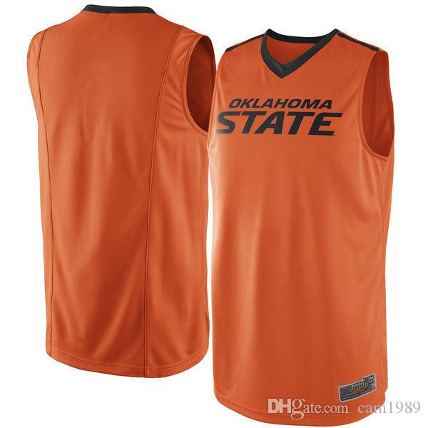 newest f99f6 1a8a4 Oklahoma State Cowboys Men College Basketball Jersey Embroidery Athletic  Outdoor Apparel Mens Sport Jerseys Size S-3XL