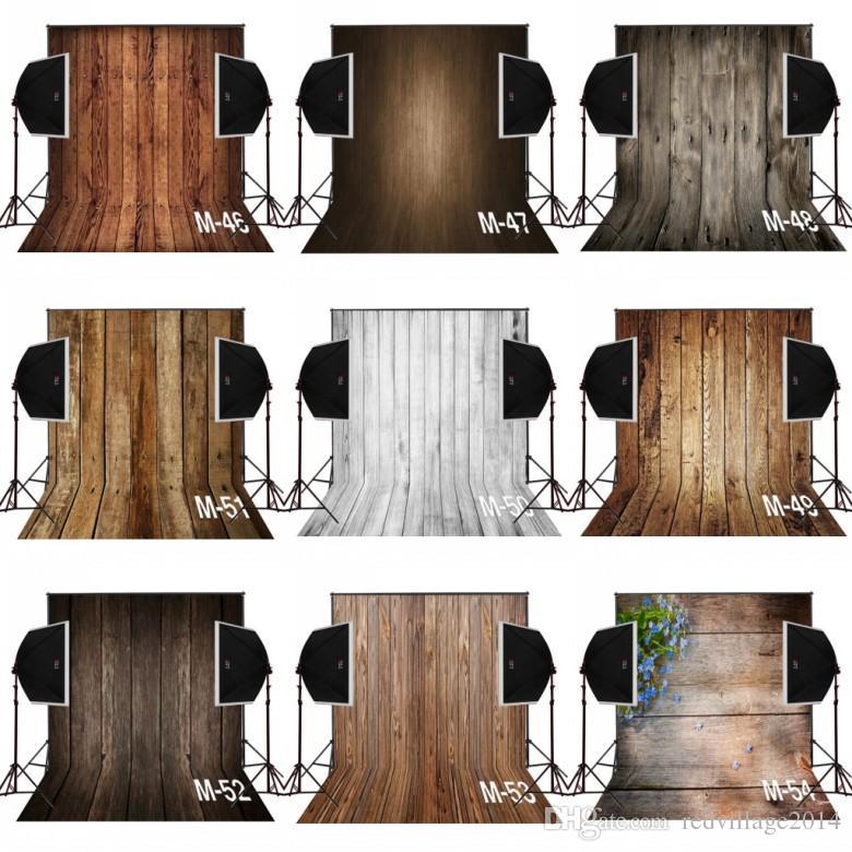 3x5ft dark brown vintage cenários de fotografia de madeira para o bebê recém-nascido câmera fotografica pano digital estúdio adereços foto fundo vinil