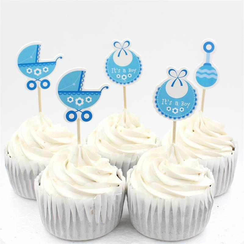 2019 Wholesale Baby Wagon Party Cupcake Toppers Picks Decoration For