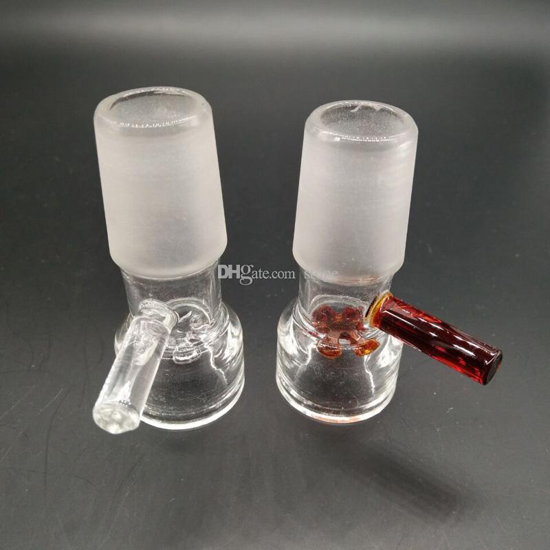 Nuevo estilo de diapositivas cuencos de vidrio 14.4mm 18.8mm para Glass Bongs y Ash Catcher Glass smoking Bowl envío gratis