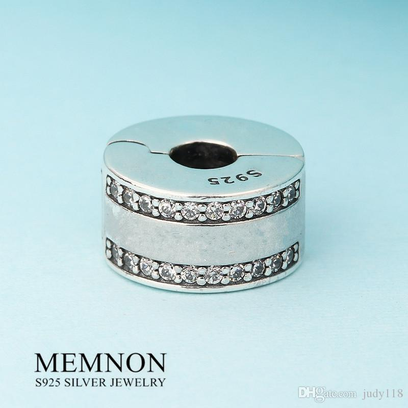 Nuova collezione primavera Insignia clip perline charms in argento sterling 925 charm fit perline bracciali fai da te fine gioielli KT070 Memon