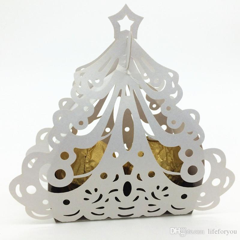 Wedding favor candy box mini laser engraved gift box party favors creative chocolate box tree decorative boxes put FERRERO ROCHER