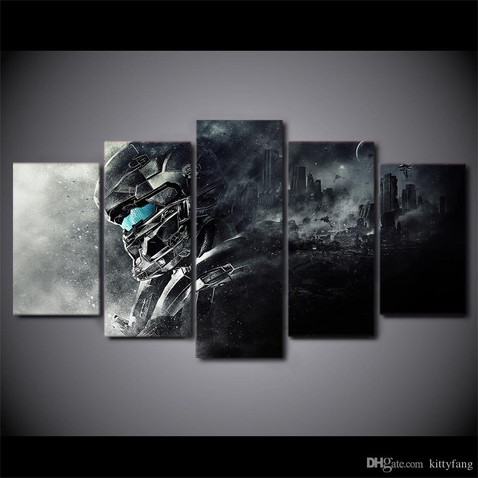 5 Pcs/Set HD Printed halo 5 guardians Painting Canvas Print room decor  print poster picture canvas Free shipping/ny-3038