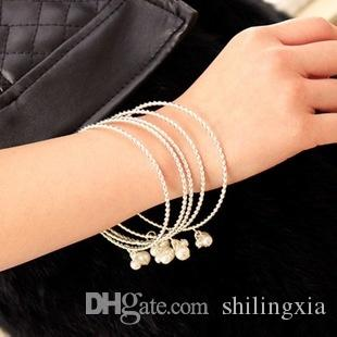 2017 new design Jewelry Bangle Bracelet sterling silver Fashion Jewelry Bracelet Jewelry Women's Fashion spiral_bracelet Pearl Bracelet