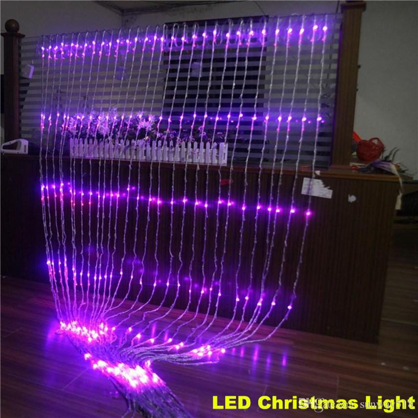 christmas led waterfall curtain lights curtain menzilperde net. Black Bedroom Furniture Sets. Home Design Ideas