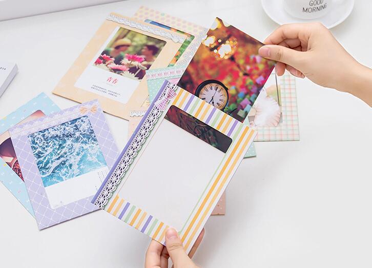 DIY фотоальбомы 8 шт./компл. 6 дюймов творческий подарок DIY настенные бумаги фоторамка стены фотоальбом держатель главная украшения стены