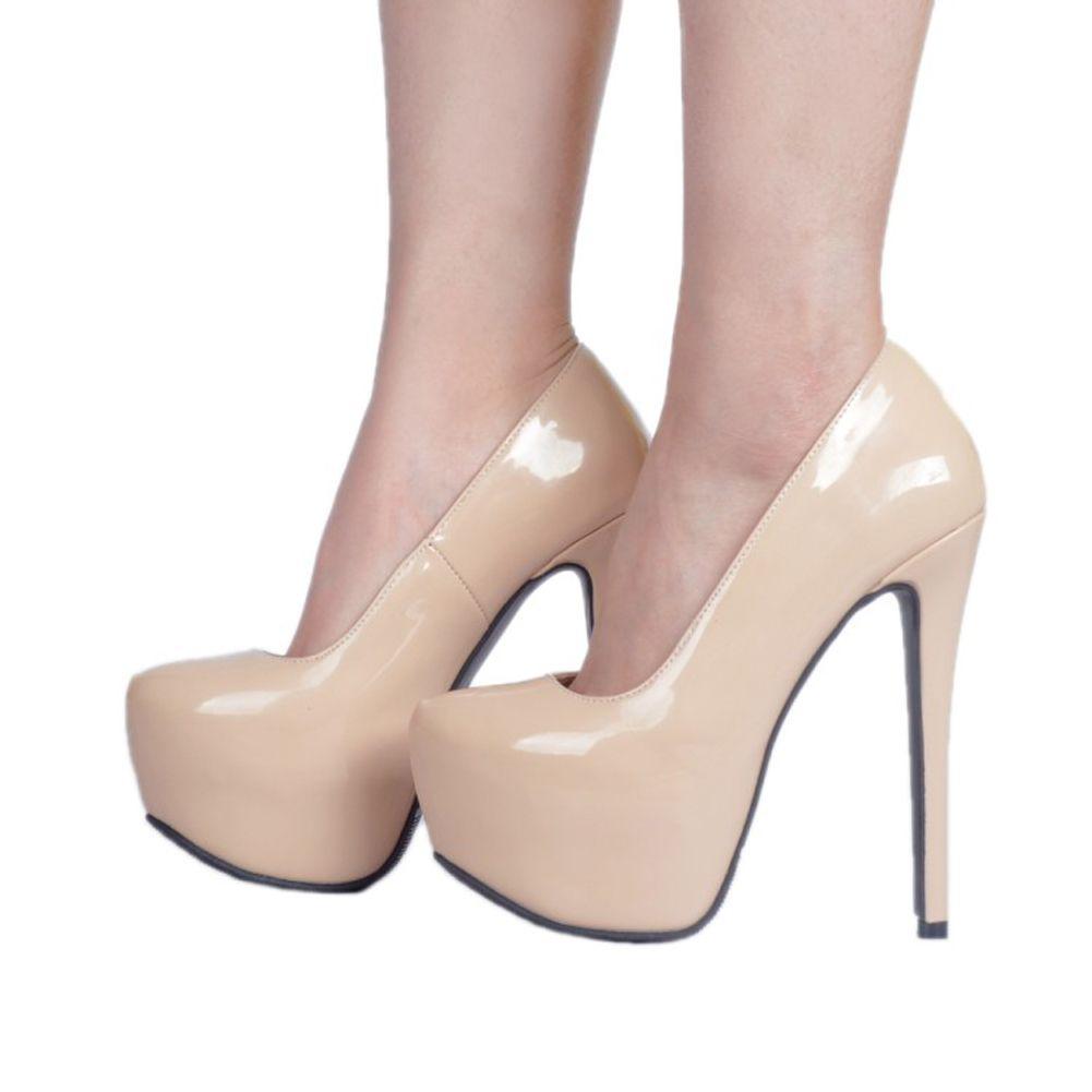 Kolnoo Womens Fashion Handmade New Arrival Slip-on Patent Leather Shoes Party Dress Wedding High Heel Platform Sexy Pumps XD379