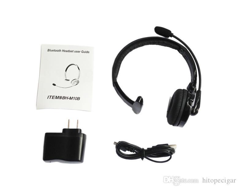 Venta caliente M10B Bluetooth inalámbrico manos libres auriculares auriculares estéreo para reproductor de mp3 y teléfono inteligente negro para la oficina