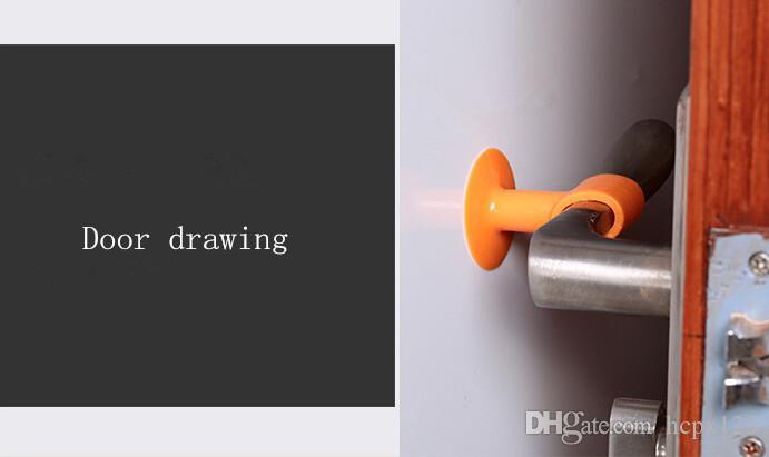 La goma de silicona a prueba de agua casera se puede utilizar para prevenir la puerta de la colisión contra la puerta de succión de la pared del cuarto de baño caucho superior 6 ropa