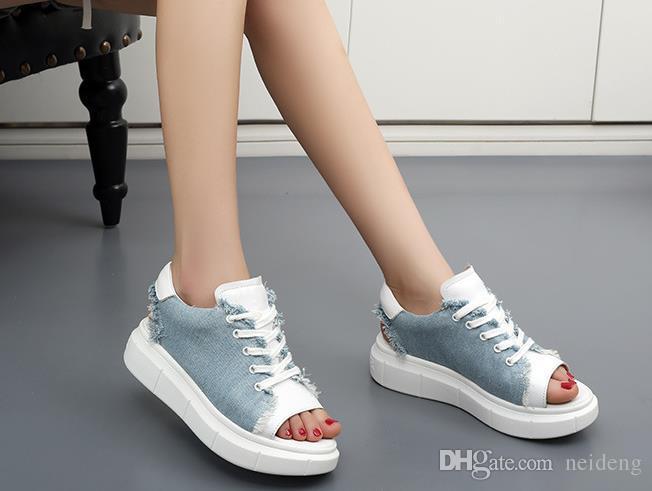 Sandalias de mujer Zapatos de mujer Plataforma de verano Cuñas Zapatos de lona Estilo Moda Casual Cool Air Mesh Bling Crystal Zapatos de goma con punta abierta Mujeres