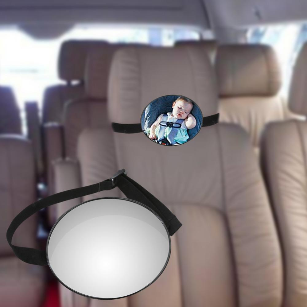car back seat mirror baby facing rear ward view headrest mount mirror round safety infant baby kids monitor car accessories cool car accessories for girls