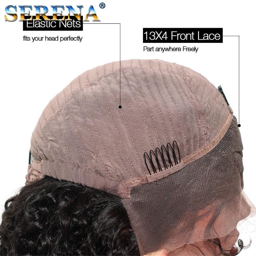 Pelucas llenas del cordón del color natural Onda del cuerpo del pelo humano Pelucas del pelo humano del frente del cordón de la onda del cuerpo del peruano con el pelo del bebé para las mujeres negras