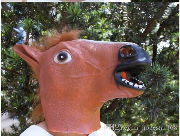 Creepy Horse Mask Head Halloween Costume Theater Prop Novelty Hot Sales Head Latex Rubber Party Masks