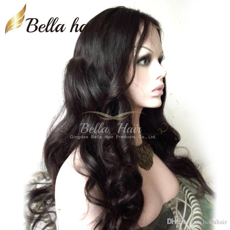Spitze Frontperücken Körperwelle Human Haare Perücken mit Babyhaar Brasilianische Jungfrau Spitze Perücke Für Schwarze Frauen Natürliche Farbe Bella Haar