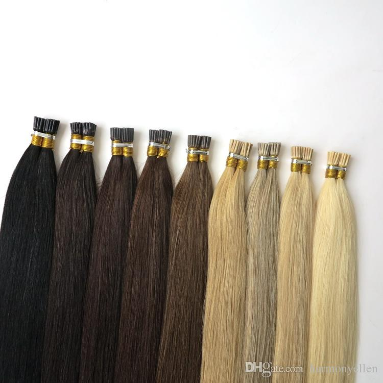 Cheapest I Tip Keratin Hair Extensions 1 Gram Pre Bonded Hair 50