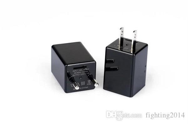 1080P WIFI Cargador de pared Mini cámara IP P2P EU EE. UU. Adaptador de enchufe cámara vista en vivo de vigilancia inalámbrica Seguridad en el hogar Red Niñera cámara