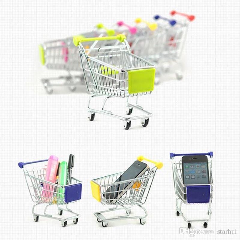 Neue Mini Supermarkt Handwagen Einkaufswerkstatt Modus Ablagekorb Schreibtisch Spielzeug Aufbewahrungsboxen Frei DHL WX-C27