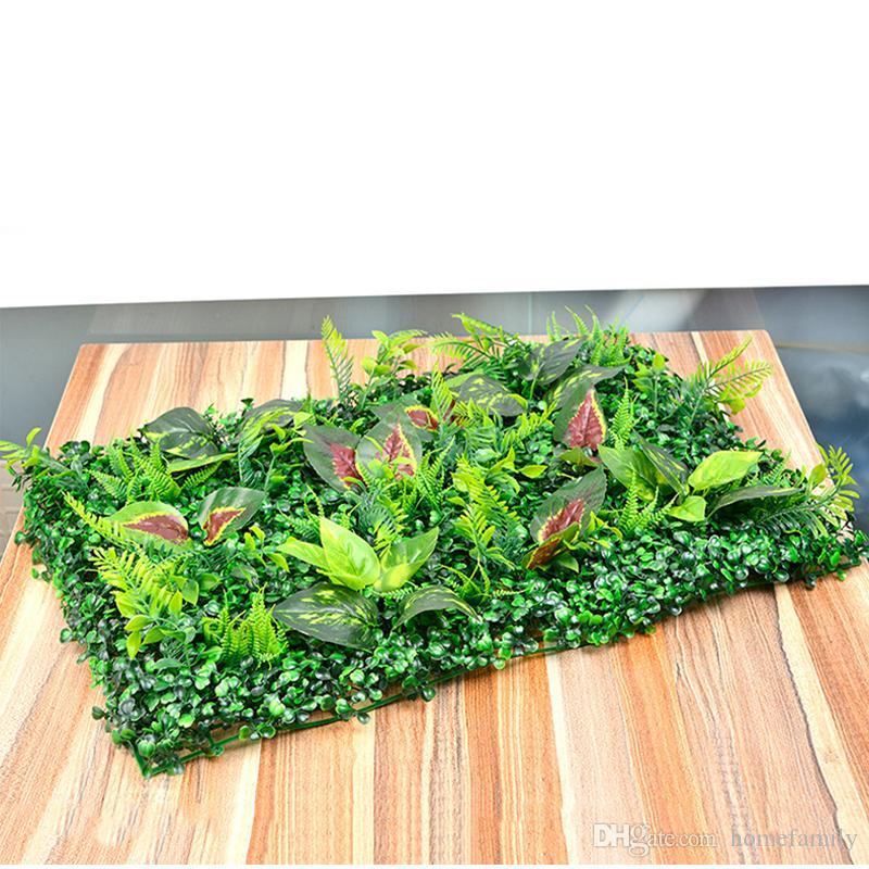 Césped de césped artificial de plástico 40 * 60 cm Jardín de hadas Miniatura Gnomo Musgo Terrario Decoración Resina Artesanía Bonsai Decoración para el hogar Milán Césped mixto