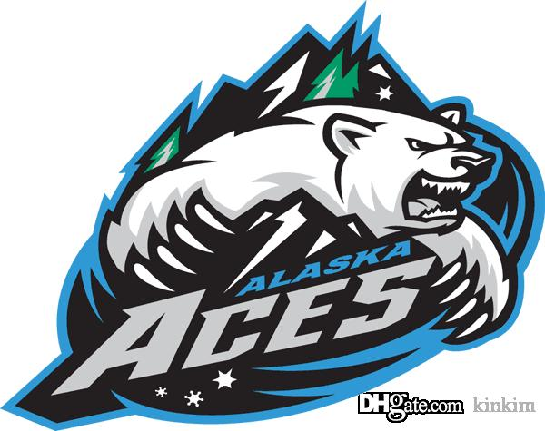 Мужская настроить хоккей Джерси Аляска тузы ECHL трикотажные изделия белый личность настройка ваше имя и нет