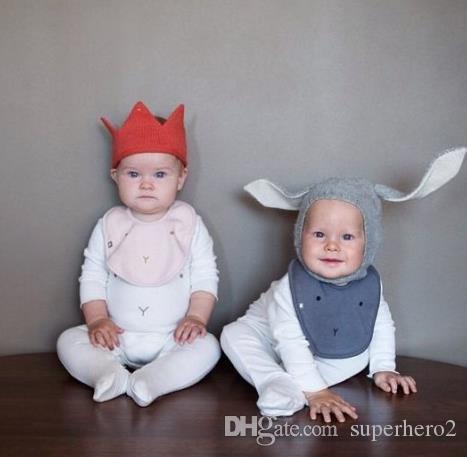 Bebek Çocuk Tavşan Kulak Örme kapaklar Yürüyor bebek Hayvan cartton Şapka Erkek Kız Kış Sıcak Tığ Bunny Kulaklık Earcap Örgü Kap 0-4Y HEDIYE