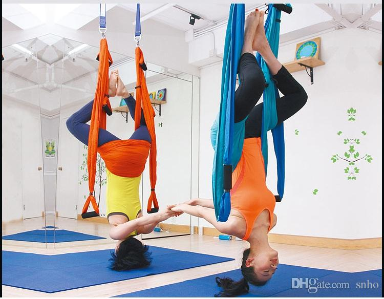 2018 aerial yoga swing ultra strong antigravity yoga hammock trapeze sling for air yoga inversion exercises 2 extensions straps and pdf guide from snho     2018 aerial yoga swing ultra strong antigravity yoga hammock      rh   dhgate
