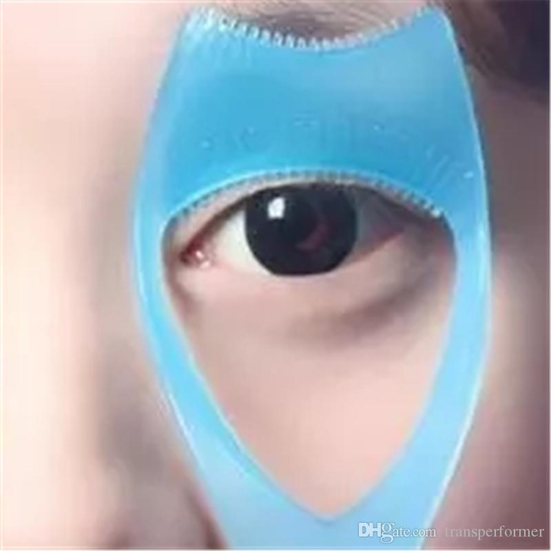 5in1 Pembe Maskara Kirpik Tarak Aplikatör Şablon Eyeliner Modelleri Kılavuzu Kart Kaş Stencil Bakım Şekillendirme Kiti Makyaj Yardımcı Alet Co