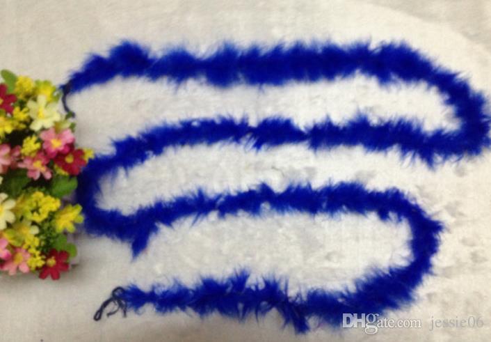 Boda Fiesta Decoraciones de bricolaje Pluma Boa 2 metros Vestido de lujo fiesta de noche Hen Burlesque Bufanda regalo de la flor del ramo del abrigo accesorio colorido