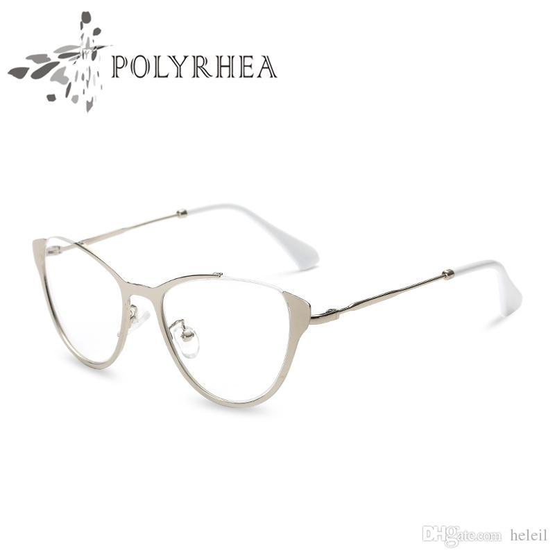 Compre Designer De Marca Olho De Gato Armações De Óculos Mulheres Vintage  Frame Ótico Moda Vidros Ópticos Óculos Vintage Frame Com Caixa E Caso De  Heleil, ... 00497cd801