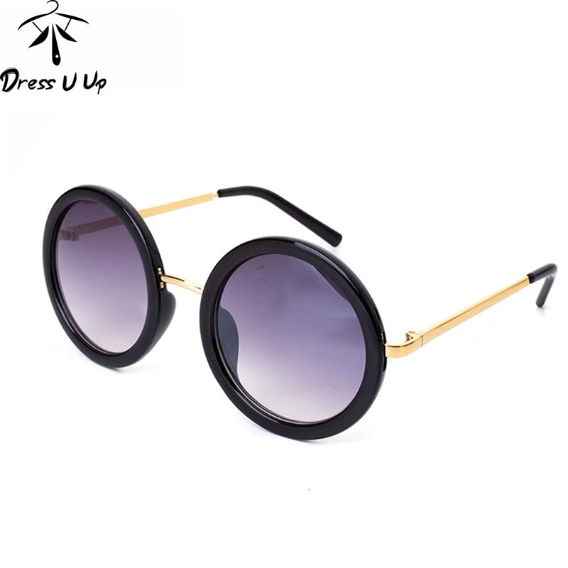 Wholesale-DRESSUUP New Vintage Round Sunglasses Women Brand Designer ... befc06df38