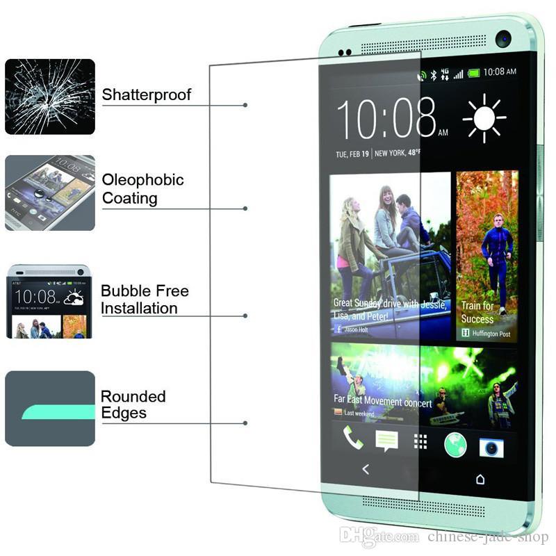 PARA HTC 10 m9 M8 A9 X9 Desire 12 más Desire x10 9H Premium 2.5D Protector de pantalla de cristal templado /
