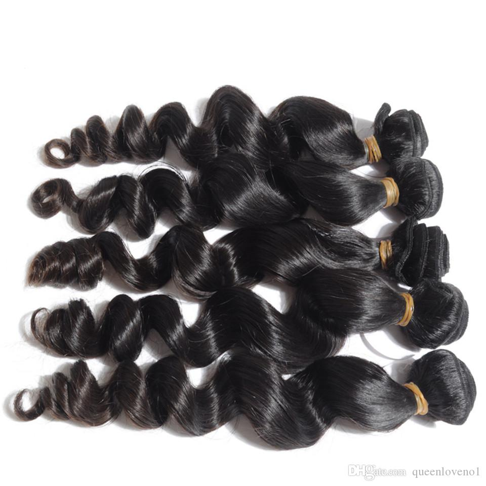Malaysian Loose Wave Unprocessed Human Weaves Virgin Hair Remy Human Hair Extensions Dyeable No Shedding Tangle Free