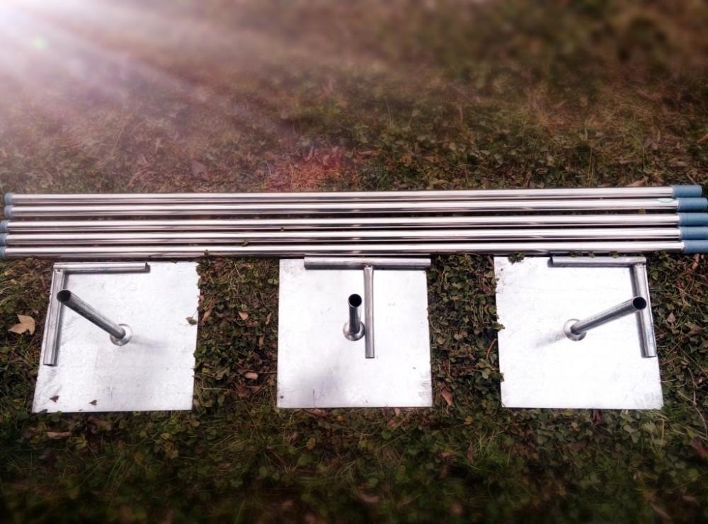 الفولاذ المقاوم للصدأ خلفية عرس قابل للتعديل من قدم مربع / المظلة / chuppah / أربور دعم الغطاء
