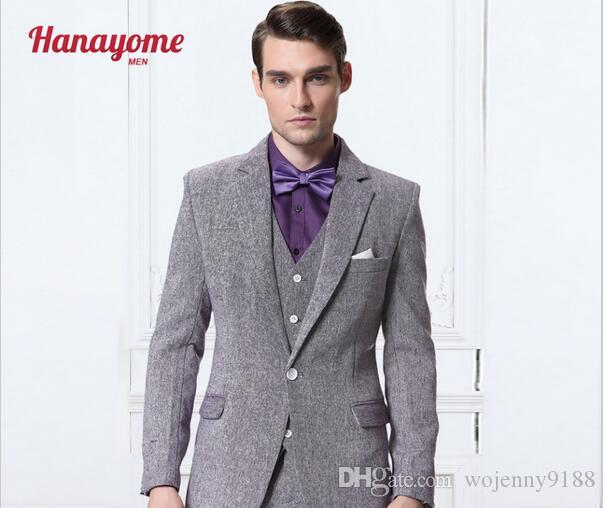 Classic Design Men's Dinner Party Prom Suits Groom Tuxedos Groomsmen Wedding Blazer Suits Jacket+Pants+Vest123