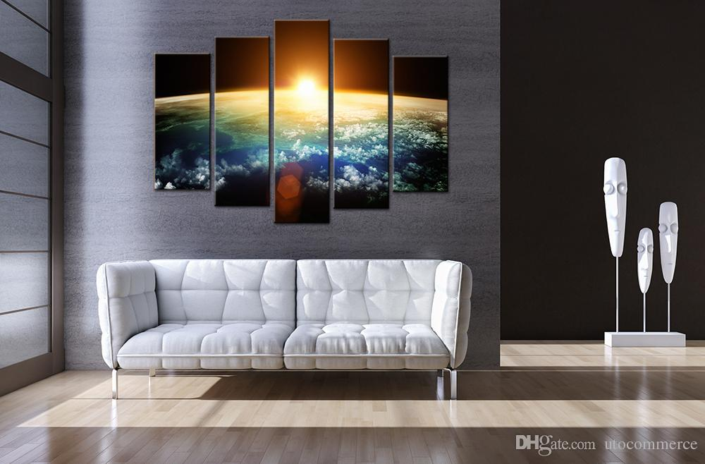 2017 Unframed Wall Decor Canvas Painting Digital Picture Of The Earth Space  Picture Print On Canvas For Office Decoration From Utocommerce, $15.97    Dhgate. Part 55