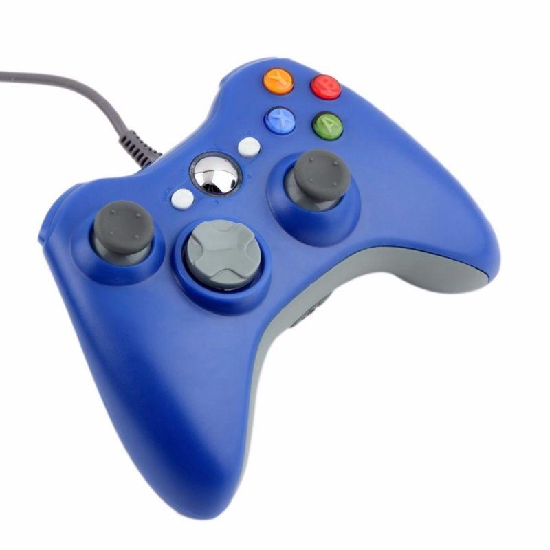 USB Kablolu Joypad Gamepad Için Xbox 360 Konsolu Kablolu Denetleyici XBOXdenetleyici Için Siyah Beyaz Kırmızı Mavi
