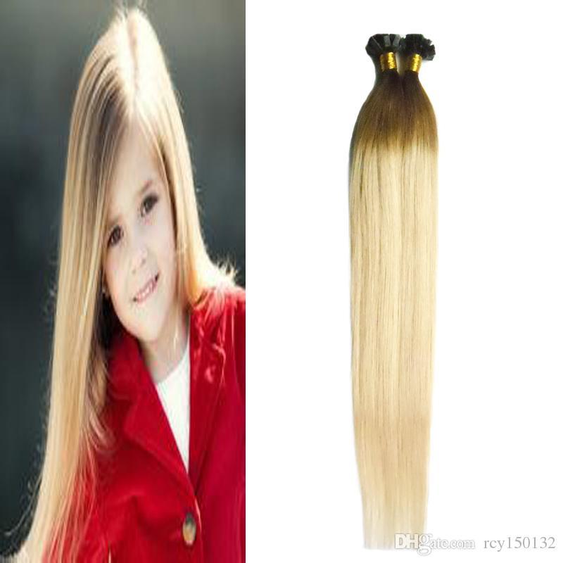 T4 / 613 dois tons ombre cabelo brasileiro 100g u extensões de cabelo ponta de cabelo atacado