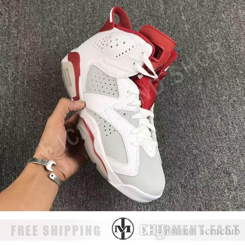 12237e713581ec Retro 6 Hare Alternate 91 Basketball Shoes Men 6s Hare White Red Athletics  Sports Sneakers With Shoes Box Top Quality 4e Basketball Shoes Loafers For  Men ...