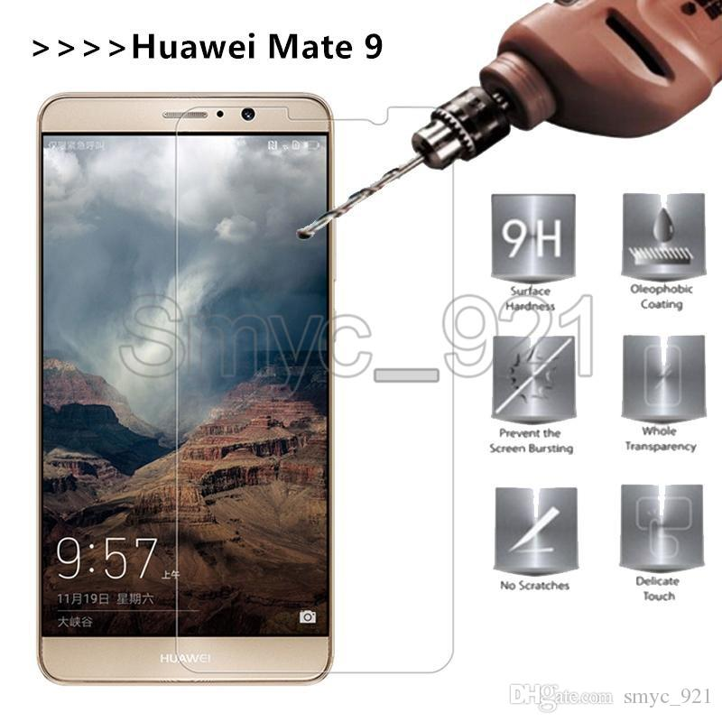 2 Pack tempered glass screen 0.3mm screen protector paper package for iPhone 7 huawei mate 8 mate 9 P8 lite P9 plus