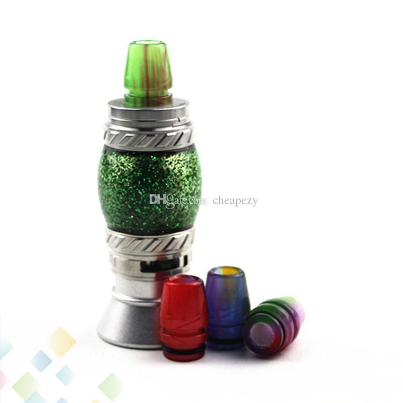810 Epoxy Resin Drip Tip Frog Mouthpieces Fit TFV8 TFV12 TFV8 Big Baby Atomizers E Cigarette DHL Free