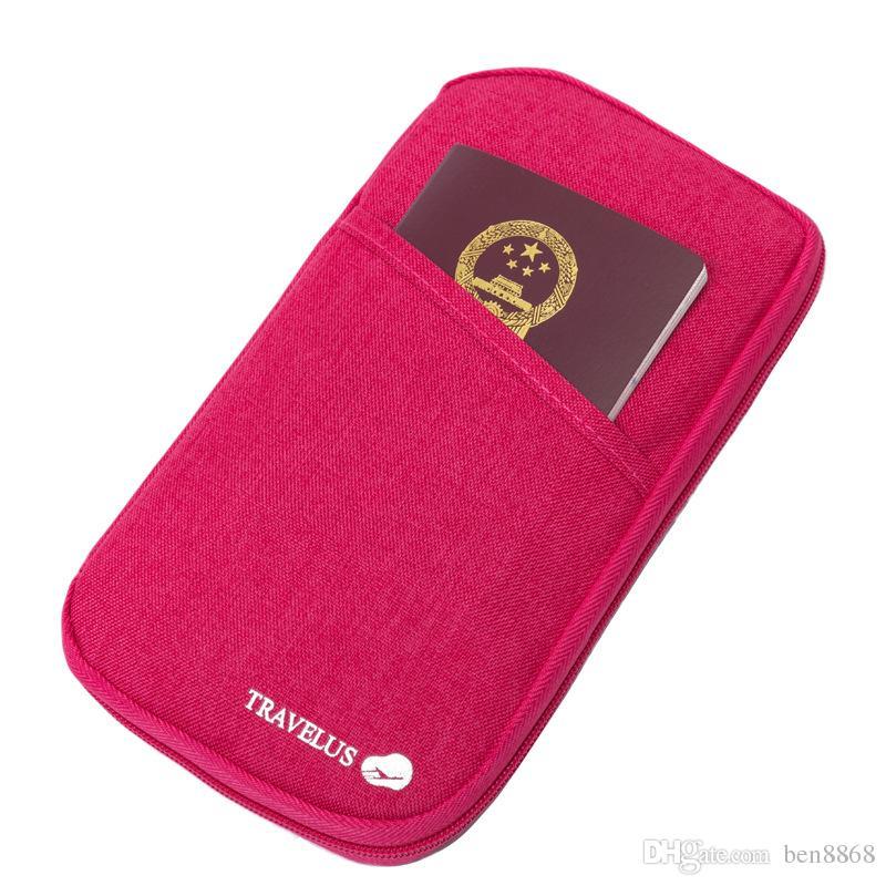 2017 Venda Quente! Novo Titular do Passaporte Organizador Carteira multifuncional documento pacote de viagem carteira portador do cartão bolsa portátil