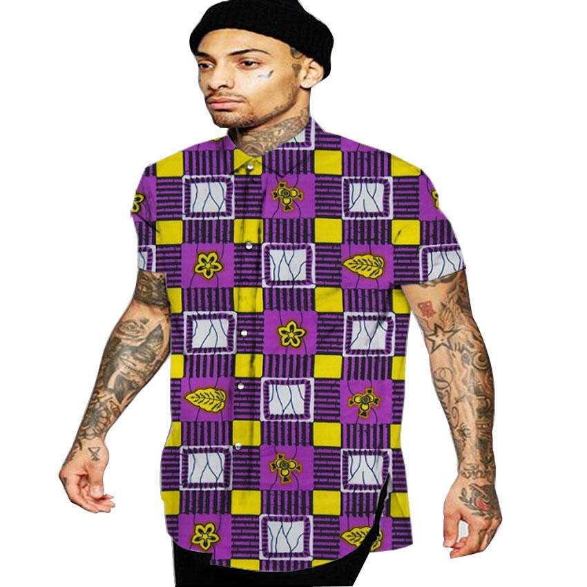 African Print Shirt For Man Enam T Shirt