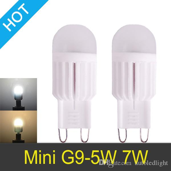 G9 5W / 7W regulable 110V-220V 1 LEDs Lámpara 360 Ángulo de haz Blanco cálido / frío LED Miniatura Vela en miniatura Bombilla 10x