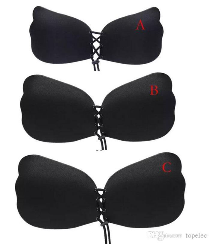 New arrival Butterfly Wing Invisible Bra Self Adhesive Silicone Invisible Push-up Bras for Women A B C D