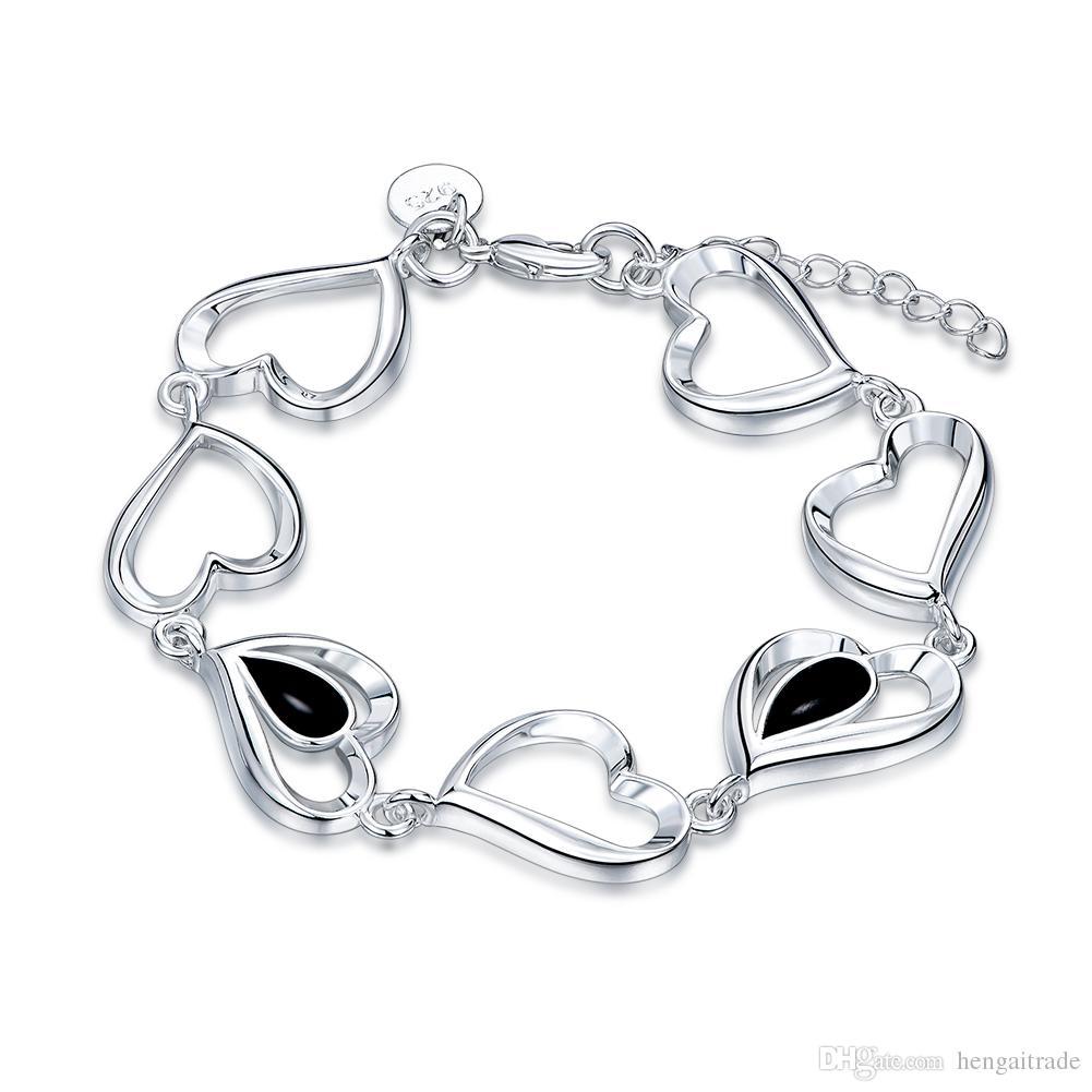 Ücretsiz kargo Toptan 925 Ayar gümüş kaplama istakoz charm bilezikler LKNSPCH559LKNSPCH548