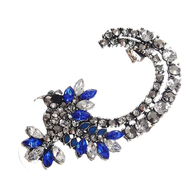 New Ear Type 2016 Luxury Punk Cool Crystal Gem Earring Ear Cuff Trendy Earrings Clip On Earrings For Women 1E308